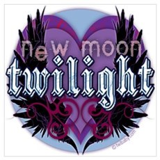 Twilight New Moon Winged Hearts Poster