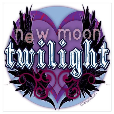 Twilight New Moon Winged Hearts Canvas Art