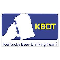 Kentucky Beer Drinking Team Poster