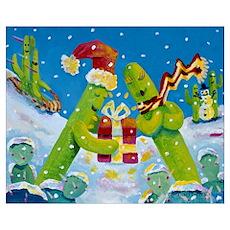 'Saguaro Holiday' Poster