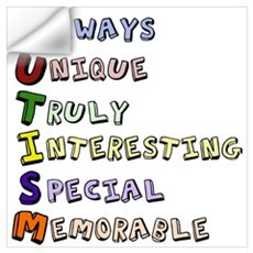 Autism Acronym Wall Decal