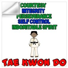 Tenets Of Tae Kwon Do Wall Decal