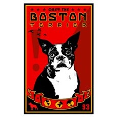 Obey the Boston Terrier! 1 Framed Print