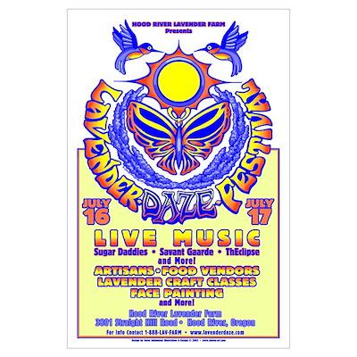 Large Lavender Daze Poster