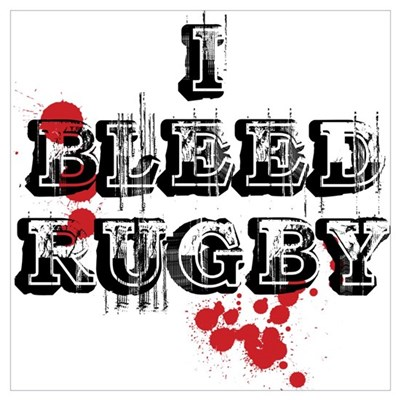 I Play Rugby Poster