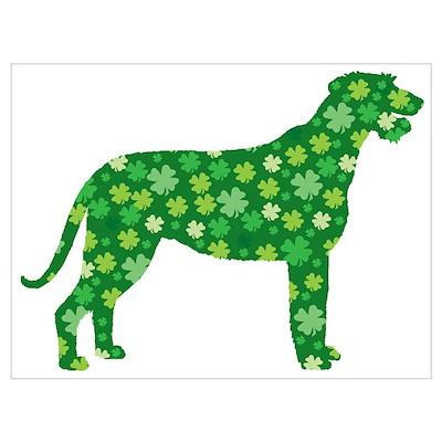 Shamrocks Irish Wolfhound Poster