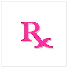 Pharmacy Rx Symbol Poster