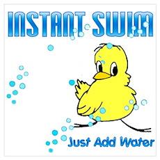 Instant Swim Chick Poster
