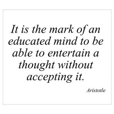 Aristotle quote 46 Framed Print