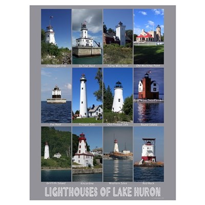 Lighthouses of Lake Huron Canvas Art