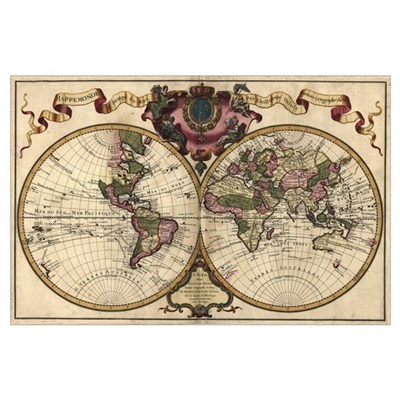 1720 World Map Poster