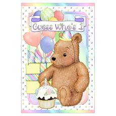 First Birthday Teddy Bear Poster