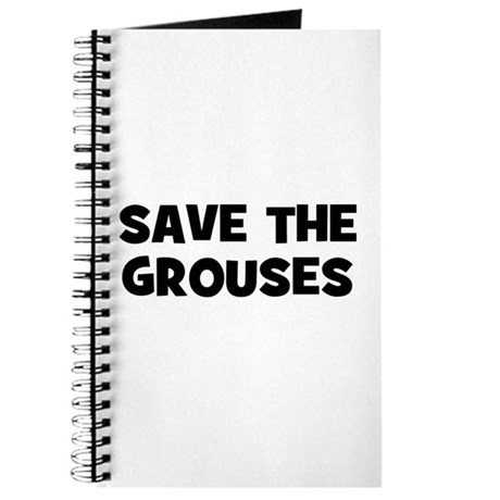 Save The Grouses Journal