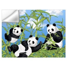 Panda Bears Wall Decal