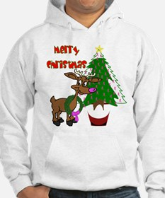 Merry Christmas Breast Cancer Awareness Hoodie