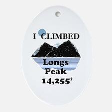 Longs Peak 14,255' Ornament (Oval)
