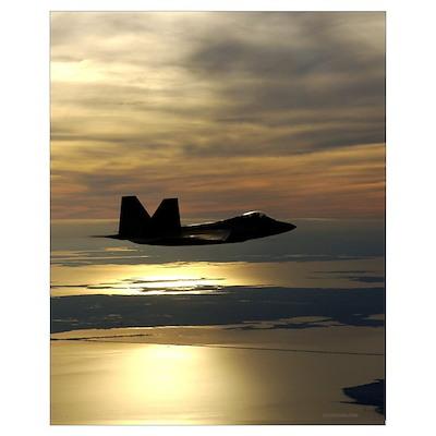 F22 Sunset Poster