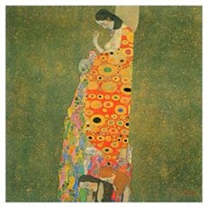 Gustav Klimt Abandoned Hope XL Framed Print
