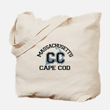 Cape Cod MA - Varsity Design Tote Bag