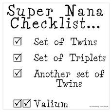 Super Nana Checklist Poster