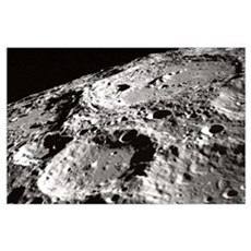 Apollo 10 Moon Craters Large Space gift Poster