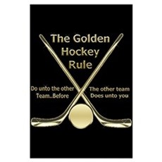 Golden Hockey Rule Framed Print