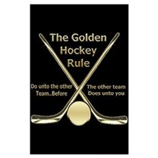 Golden Hockey Rule Poster
