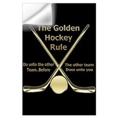 Golden Hockey Rule Wall Decal