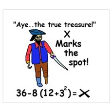 X MARKS THE SPOT OF MATH TREA Poster