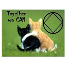 TOGETHER WE CAN CATS Framed Print