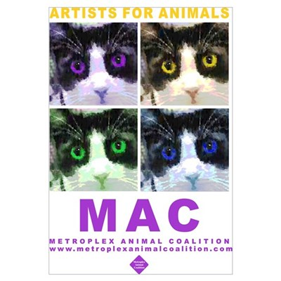 "16"" X 20"" MAC Artists For Animals Poster"
