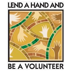 Lend a Hand and Be a Volunteer Poster