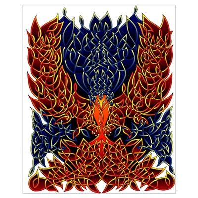 Celtic Phoenix Canvas Art