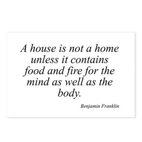 Benjamin Franklin quote 4 Postcards (Package of 8)