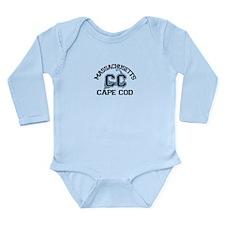 Cape Cod MA - Varsity Design Long Sleeve Infant Bo