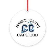 Cape Cod MA - Varsity Design Ornament (Round)