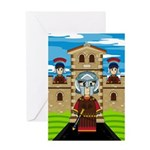 Roman Gladiator at Fort Greeting Card
