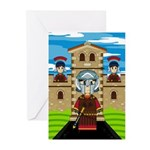 Roman Gladiator at Fort Greeting Cards (Pk of 10)