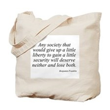 Benjamin Franklin quote 18 Tote Bag