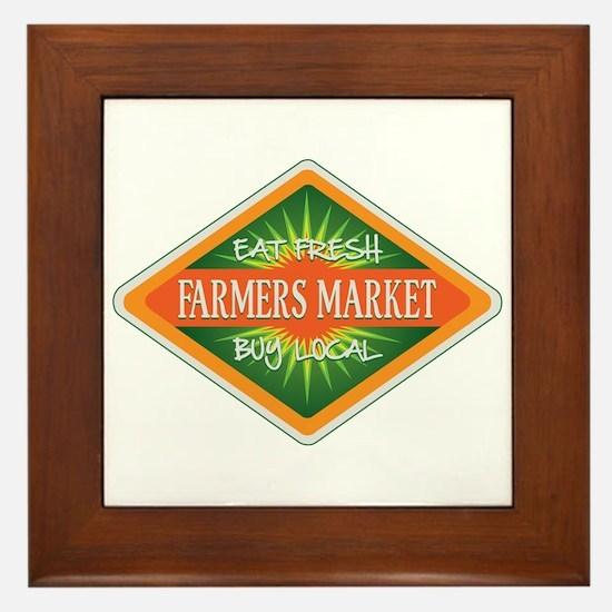 Eat Fresh Farmers Market Framed Tile