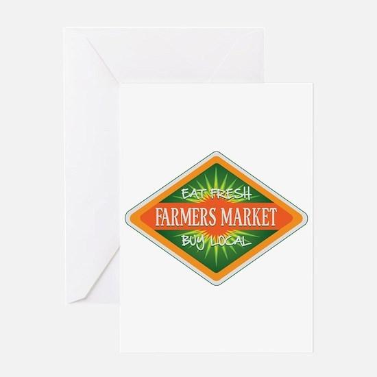 Eat Fresh Farmers Market Greeting Card
