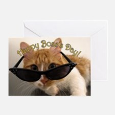 Happy Boss's Day - Cat in Sunglasses Greeting Card
