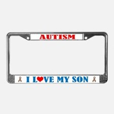 Autism I Love My Son License Plate Frame
