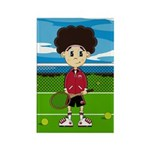 Cute Tennis Girl Magnet (100 Pk)