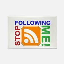 Stop Following Me! RSS Icon Rectangle Magnet