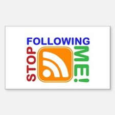 Stop Following Me! RSS Icon Decal