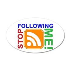 Stop Following Me! RSS Icon 22x14 Oval Wall Peel