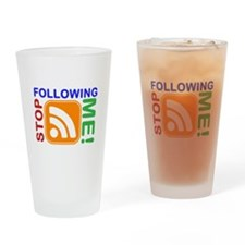 Stop Following Me! RSS Icon Drinking Glass