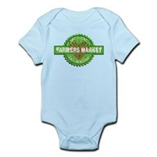 Farmers Market Heart Infant Bodysuit