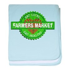 Farmers Market Heart baby blanket